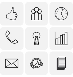 Communication and bussines icons vector image