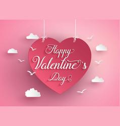 concept of happy valentine day vector image