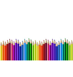 crayons - seamless row colored pencil vector image
