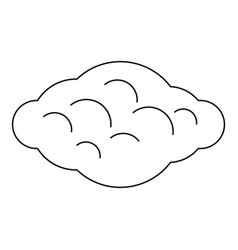 Curly cloud icon outline style vector