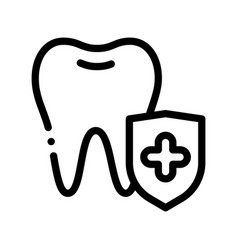 dentist stomatology tooth protection icon vector image
