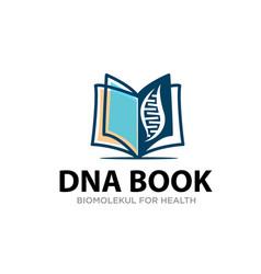 Dna book logo designs simple modern for education vector