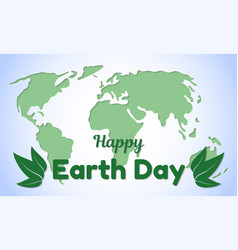 Earth day theme greeting card or banner greeting vector