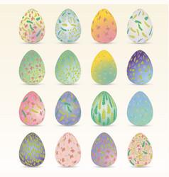 Easter egg set easter collection easter eggs vector