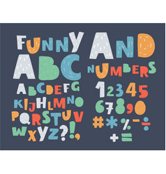 english alphabet uppercase symbols and numbers vector image