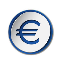 Euro currency symbol on sticker label isolated on vector