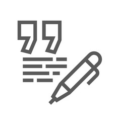 Feedback and testimonials line icon vector