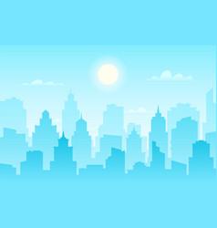 flat cityscape modern city skyline daytime vector image