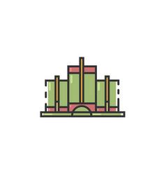 Flat color detroit landmark icon vector