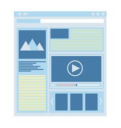 Flat website template web design technology vector
