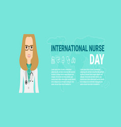 for international nurse day vector image