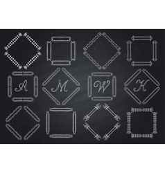 frames for text hand-drawn monogram vector image