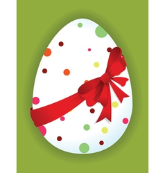 Funny egg with a red bow vector image