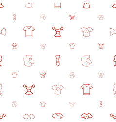 Garment icons pattern seamless white background vector