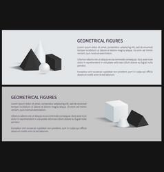 geometrical figures set banner vector image
