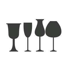 glass cups icons vector image