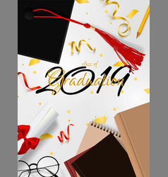 graduation banner background congrats vector image