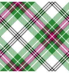 Green white tartan diagonal plaid seamless pattern vector image