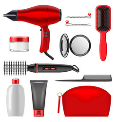 Hair styling icons set 2 vector
