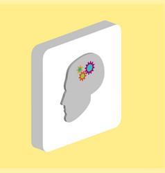 head gears computer symbol vector image