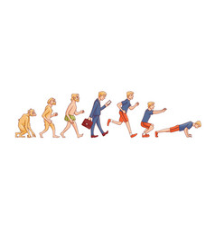 human evolution from ape to vector image