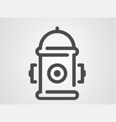 hydrant icon sign symbol vector image
