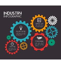 Industry design over dark background vector
