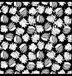 ink hand drawn abstract shapes seamless pattern vector image