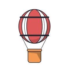 Isolated hot air balloon design vector image
