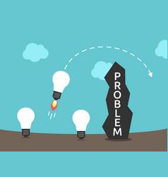 Light bulbs brainstorming wall vector