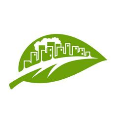 logo eco town vector image