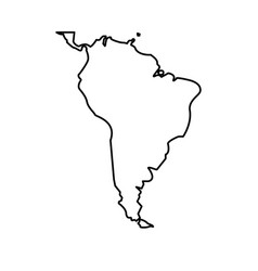 Map south latin america design isolated vector