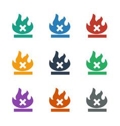 No fire icon white background vector