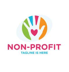 Non profit logo vector