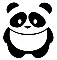 panda bear vector image