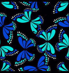 pattern with butterflies on black vector image