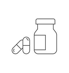 pharmaceutical drugs line icon on white background vector image