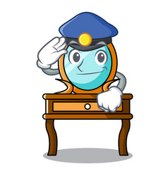 police dressing table character cartoon vector image