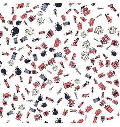 Pyrotechnics set pattern vector