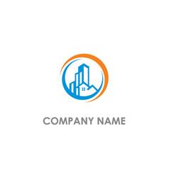 Real estate home building company logo vector