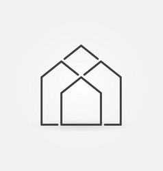 real estate outline icon vector image
