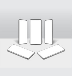 realistic detailed 3d white blank smartphone vector image