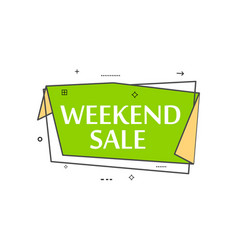 Retail speech bubble with weekend sale phrase vector