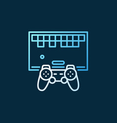 retro game with gamepad concept outline vector image