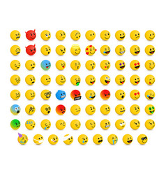 right-oriented isometric emojis emoticons vector image