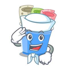 sailor rolled ice creams in cartoon cups vector image