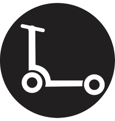 Scooter isolated vector