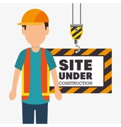 site under construction icon vector image