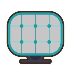 Solar panel energy alternative vector
