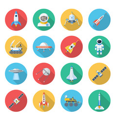 space ship icon set vector image